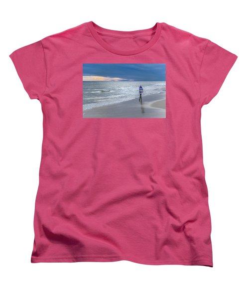 Little Girl At The Beache Women's T-Shirt (Standard Cut)