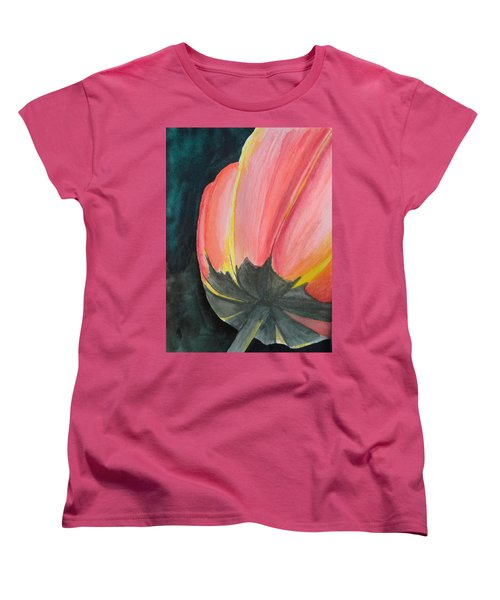 Women's T-Shirt (Standard Cut) featuring the painting Looking Up by Betty-Anne McDonald