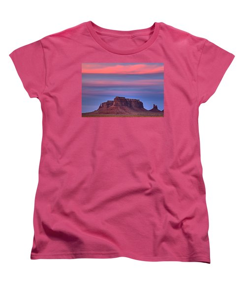Monument Valley Sunset Women's T-Shirt (Standard Cut) by Alan Vance Ley