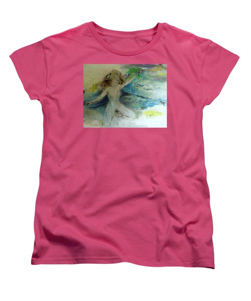 Women's T-Shirt (Standard Cut) featuring the painting My Vagina by Laurie L