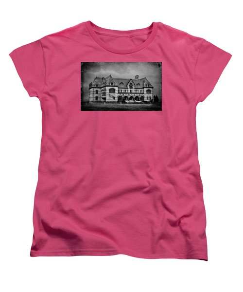 Old Post Office - Customs House B/w Women's T-Shirt (Standard Cut) by Sandy Keeton