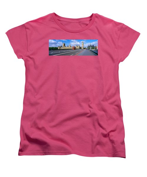 Parliament Big Ben London England Women's T-Shirt (Standard Cut) by Panoramic Images