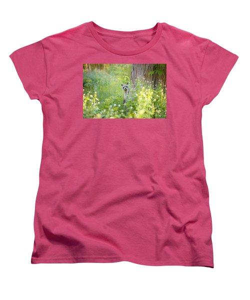 Peek A Boo Women's T-Shirt (Standard Cut) by Carrie Ann Grippo-Pike