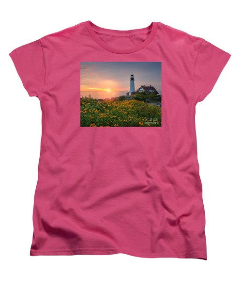 Portland Head Light Sunrise  Women's T-Shirt (Standard Cut)