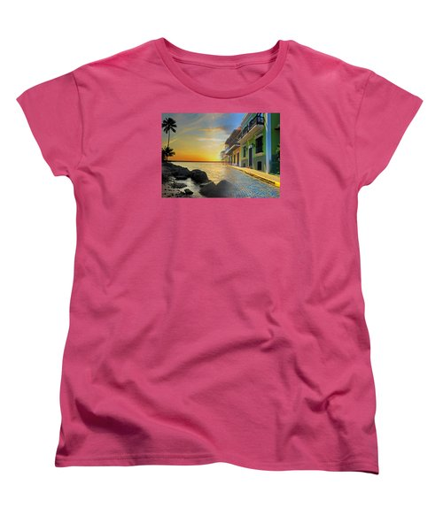 Puerto Rico Collage 4 Women's T-Shirt (Standard Cut) by Stephen Anderson