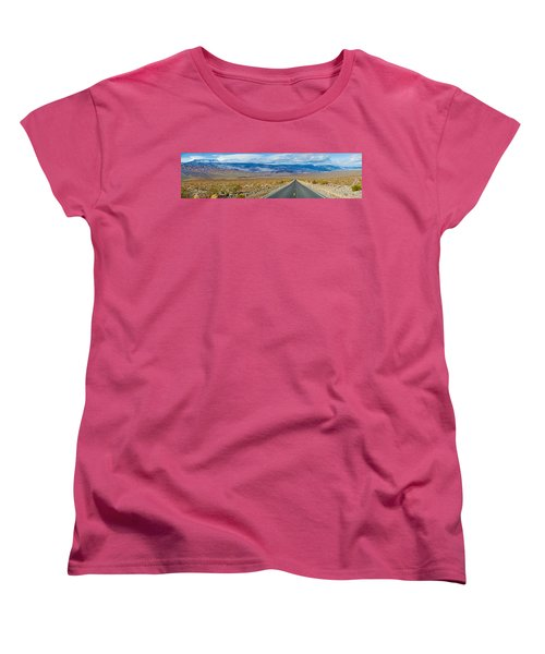 Road Passing Through A Desert, Death Women's T-Shirt (Standard Cut) by Panoramic Images