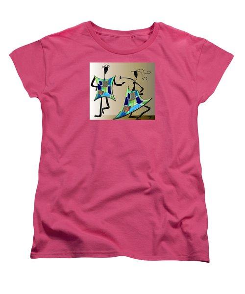 Women's T-Shirt (Standard Cut) featuring the digital art The Dancers by Iris Gelbart
