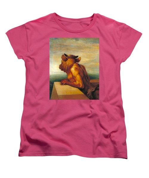 The Minotaur Women's T-Shirt (Standard Cut) by George Frederic Watts