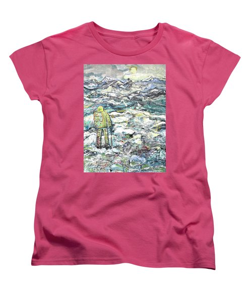 Women's T-Shirt (Standard Cut) featuring the painting Tranquility by Evelina Popilian