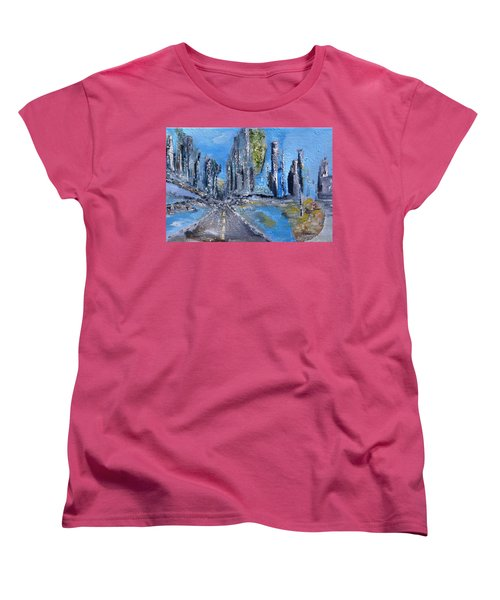 Urban Women's T-Shirt (Standard Cut) by Evelina Popilian