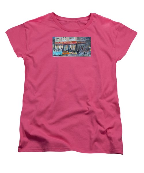 Woolworth's Holiday Shopping Women's T-Shirt (Standard Cut) by Rita Brown