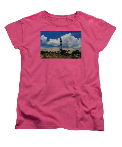Cape Lookout Lighthouse Women's T-Shirt (Standard Cut) by Tony Cooper
