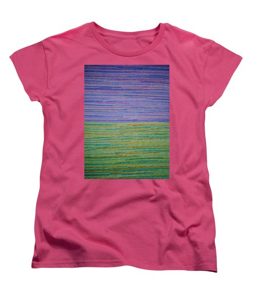Women's T-Shirt (Standard Cut) featuring the painting Identity by Kyung Hee Hogg