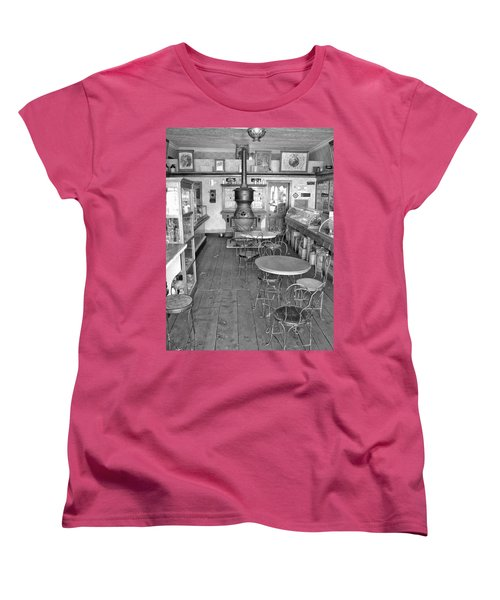 1880 Drug Store Black And White Women's T-Shirt (Standard Cut) by Ken Smith