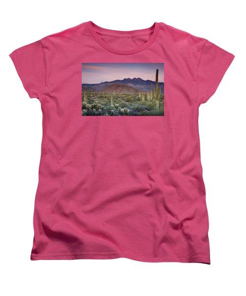 A Desert Sunset  Women's T-Shirt (Standard Cut) by Saija  Lehtonen