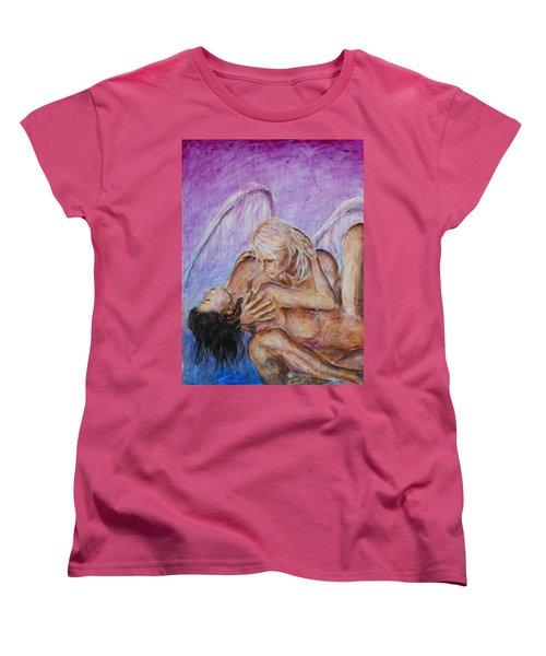 Angel In Love Women's T-Shirt (Standard Cut) by Nik Helbig