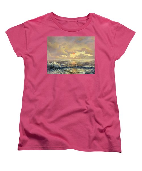 Women's T-Shirt (Standard Cut) featuring the painting Cappuccino Bay by Lynne Wright