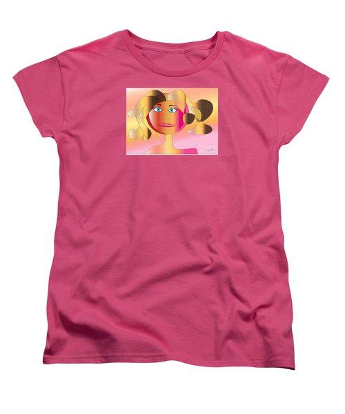 Women's T-Shirt (Standard Cut) featuring the digital art Carla by Iris Gelbart