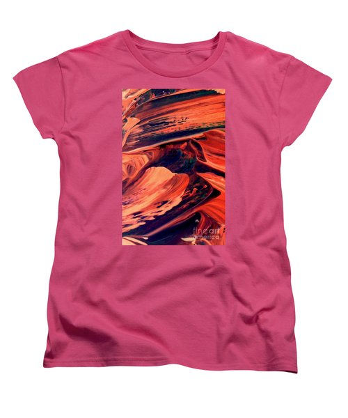 Women's T-Shirt (Standard Cut) featuring the painting Catalyst by Jacqueline McReynolds