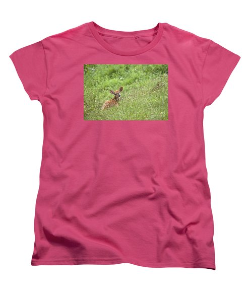 Women's T-Shirt (Standard Cut) featuring the photograph Fawn by Jeannette Hunt