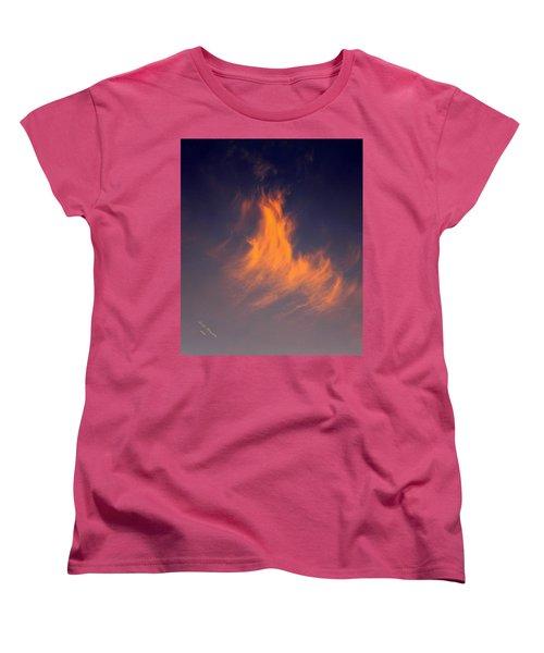 Fire In The Sky Women's T-Shirt (Standard Cut) by Jeanette C Landstrom