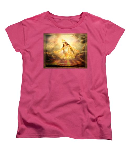 Women's T-Shirt (Standard Cut) featuring the mixed media Flying Home  by Ananda Vdovic
