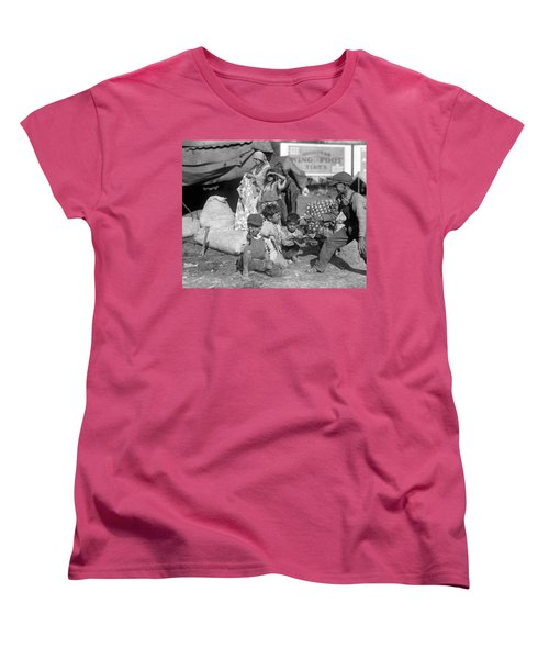 Women's T-Shirt (Standard Cut) featuring the photograph Gypsies, C1923 by Granger