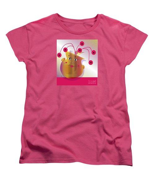 Women's T-Shirt (Standard Cut) featuring the digital art Happy Dance by Iris Gelbart