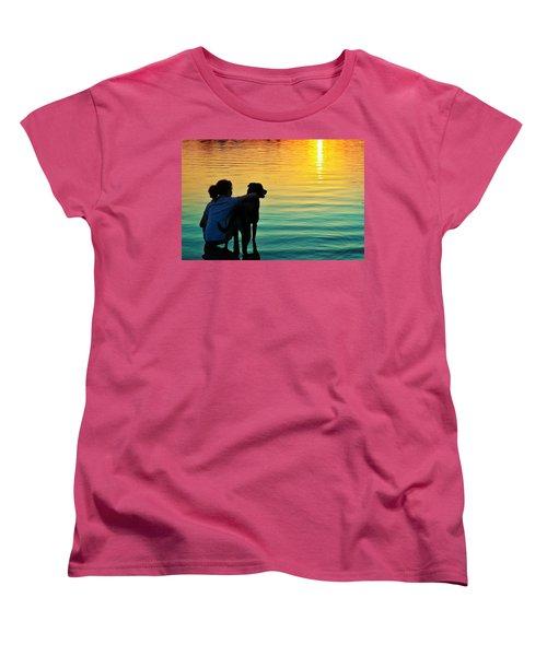 Island Women's T-Shirt (Standard Cut) by Laura Fasulo