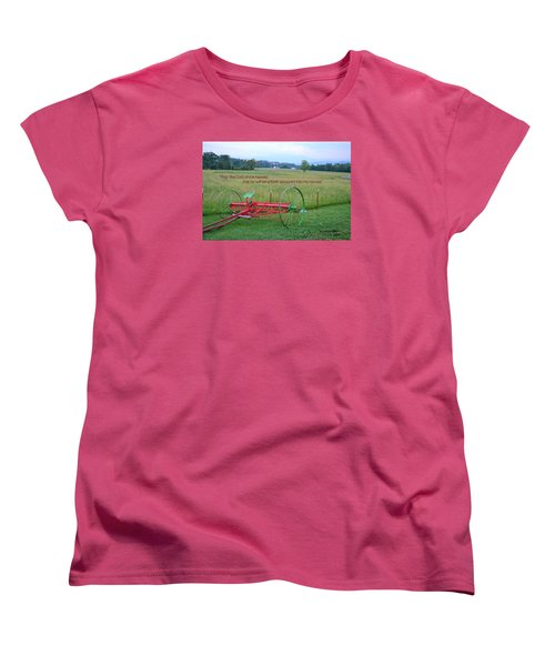 Women's T-Shirt (Standard Cut) featuring the photograph Lord Of The Harvest by Larry Bishop