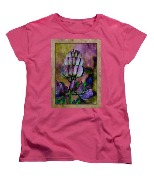 Women's T-Shirt (Standard Cut) featuring the photograph Lupin Blossom by WB Johnston