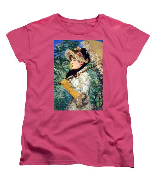 Women's T-Shirt (Standard Cut) featuring the photograph Manet's Spring by Cora Wandel