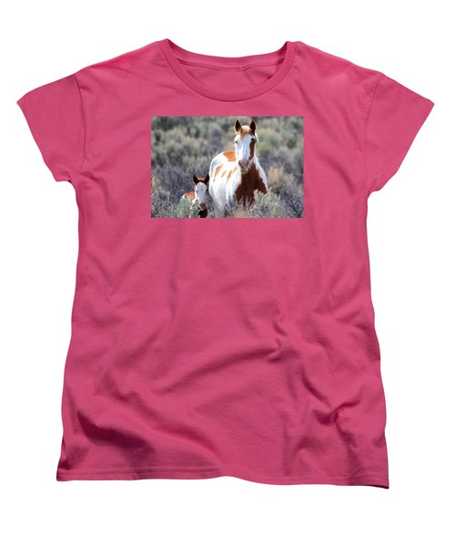 Momma And Baby In The Wild Women's T-Shirt (Standard Cut) by Athena Mckinzie