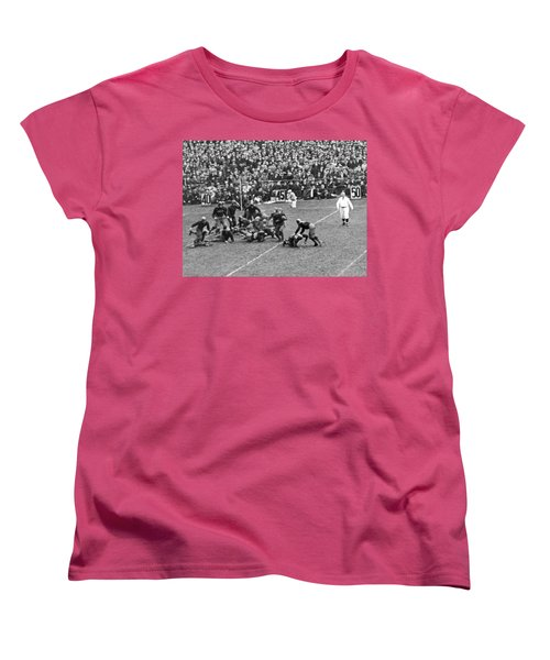 Notre Dame-army Football Game Women's T-Shirt (Standard Cut) by Underwood Archives