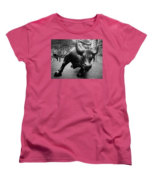 The Wall Street Bull Women's T-Shirt (Standard Cut) by Pixabay