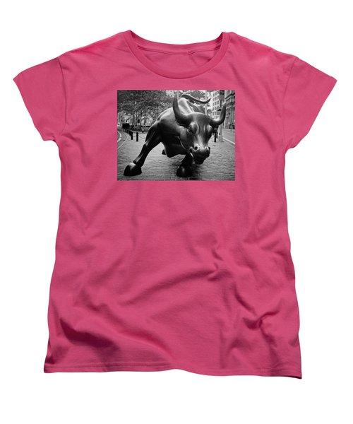 The Wall Street Bull Women's T-Shirt (Standard Cut)