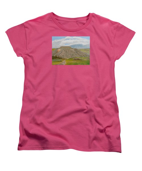 Tucumcari Mountain Reflections On Route 66 Women's T-Shirt (Standard Cut) by Sheri Keith