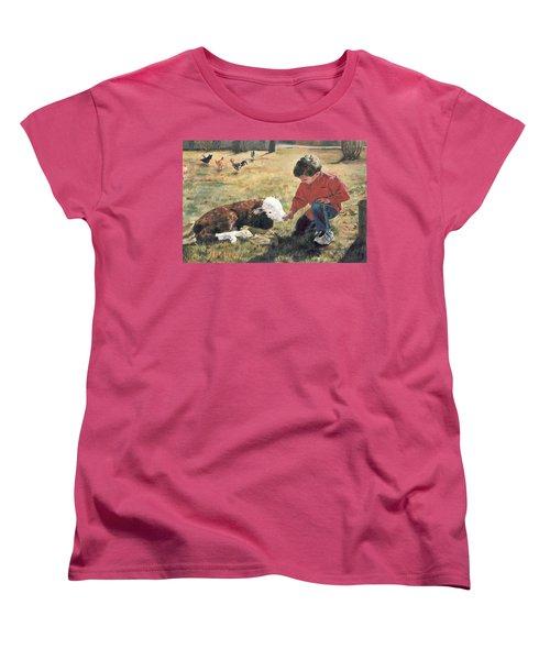 Women's T-Shirt (Standard Cut) featuring the painting 20 Minute Orphan by Lori Brackett