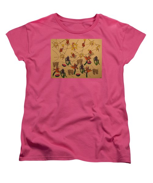 Almost Paradise Women's T-Shirt (Standard Cut) by Erika Chamberlin