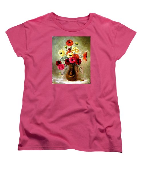 Women's T-Shirt (Standard Cut) featuring the painting Basking In The Light by Hazel Holland