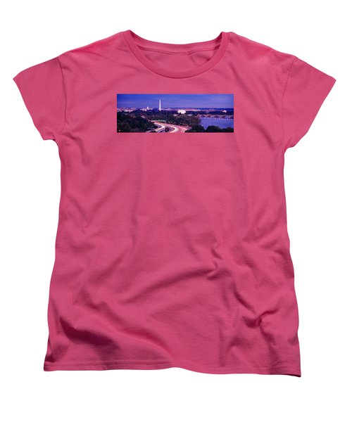 High Angle View Of A Cityscape Women's T-Shirt (Standard Cut) by Panoramic Images