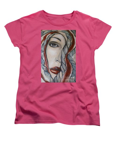 Women's T-Shirt (Standard Cut) featuring the painting Melancholy 090409 by Selena Boron