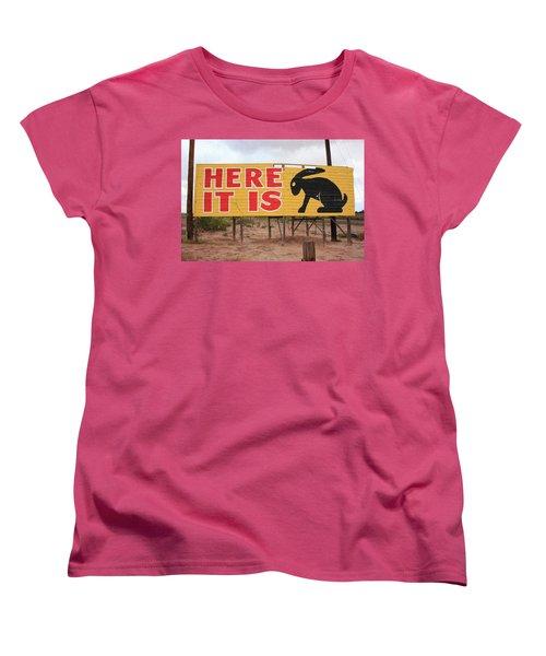 Route 66 - Jack Rabbit Trading Post Women's T-Shirt (Standard Cut) by Frank Romeo