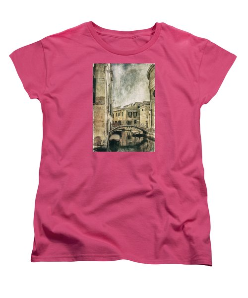 Venice Back In Time Women's T-Shirt (Standard Cut) by Julie Palencia