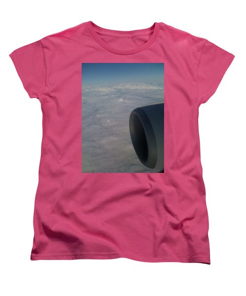 Women's T-Shirt (Standard Cut) featuring the photograph 33000 Feet by Mark Alan Perry