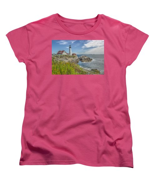 Women's T-Shirt (Standard Cut) featuring the photograph Portland Headlight by Jane Luxton