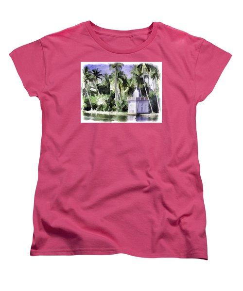 Church Located Next To A Canal Women's T-Shirt (Standard Cut) by Ashish Agarwal