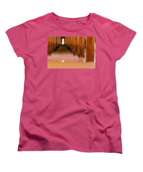 Women's T-Shirt (Standard Cut) featuring the photograph A Calm Surf City by Heidi Smith