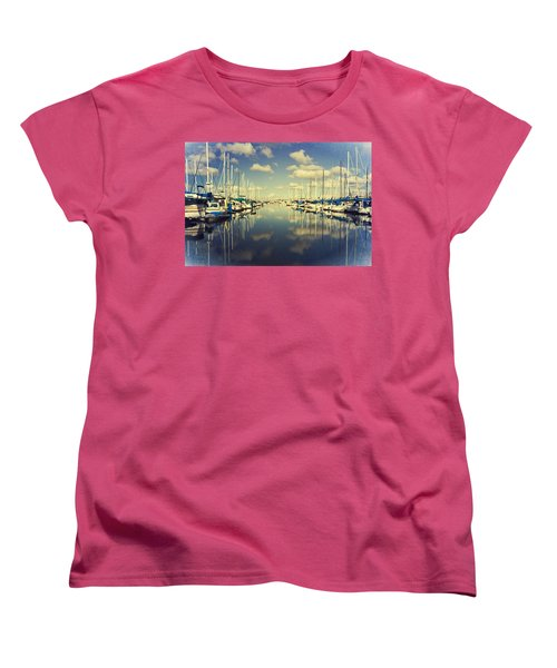 Women's T-Shirt (Standard Cut) featuring the photograph A Cloud Here A Cloud There by Heidi Smith
