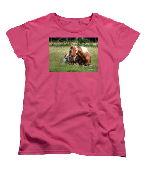 A Comfy Resting Place Women's T-Shirt (Standard Cut) by Kathy Baccari